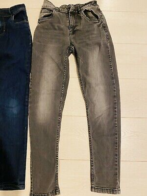 2pair Next Boys Jeans Age 12 Skinny And Carrot Fit