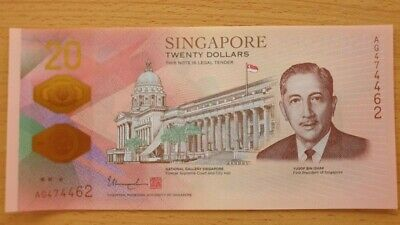 SINGAPORE $20 Dollars 2019 P New Bicentennial 200 Years UNC Polymer Banknote