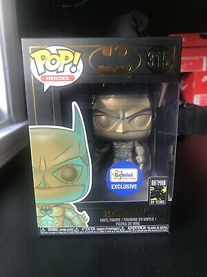 Funko Pop! Batman (1989) Bronze Patina Gemini Collectibles Exclusive DC Comics