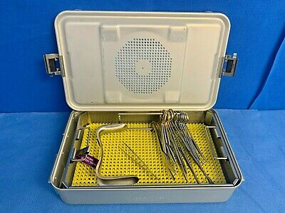Aesculap 15 Piece Vaginal Delivery Set w/ Sterilization Tray OBGYN