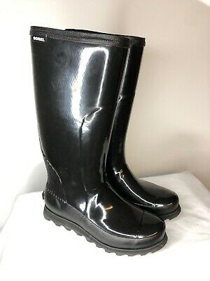 Sorel Joan Rain Tall Boot Womens Nori//Zest Waterproof 7-7.5-8-8.5-9-9.5-10