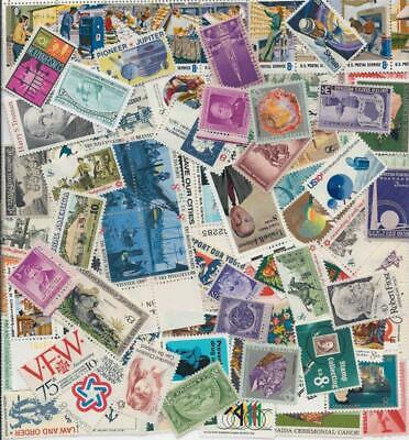 MINT US Stamp Lot 50 Different Stamps 1930-1970s Buy 4 & receive 25 Extra Free