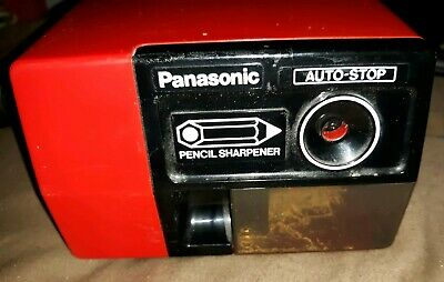 Panasonic KP-123 Electric Auto-Stop Pencil Sharpener Red- Works Great!
