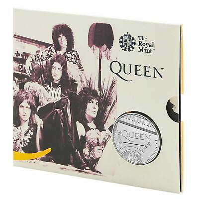 2020 Royal Mint Music Band Legend QUEEN £5 FIVE POUND Coin BUNC Pack.