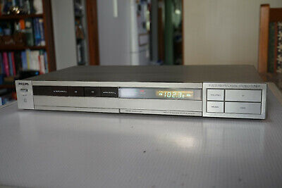 Philips F2233 Digital Stereo Tuner AM/FM Vintage Made in BELGIUM
