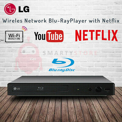LG BP350 Wireless Network Blu-Ray DVD Player with Netflix YouTube Smart Share
