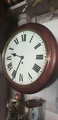 Antique GPO Fusee 8 day wall Clock