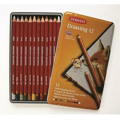 DERWENT TINTED DRAWING PENCILS - Tin of 12