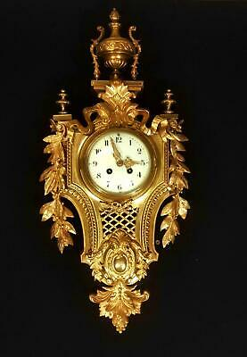 Stunning Belle Époque French Antique Ormolu Cartel Clock 1860 Fully Serviced