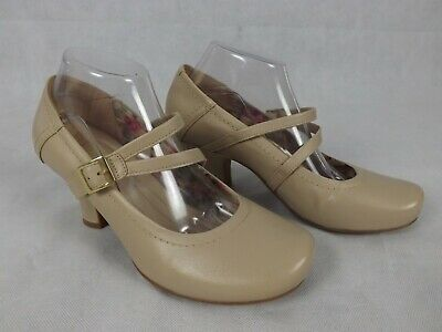 Hotter Comfort Concept Size UK7 9 Shoes Heels Nude Leather Mary Janes Vanessa