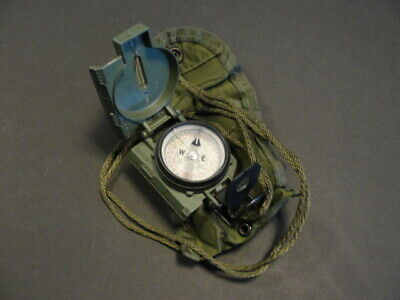 """Surplus Military Lensatic Compass with Tritium Insert and """"Compass Pouch"""""""