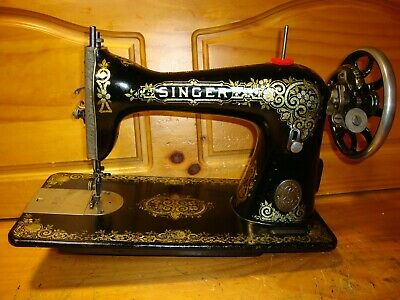 "1921 Antique Singer Sewing Machine Head Model 15 "" Gingerbread ""  ,Serviced"