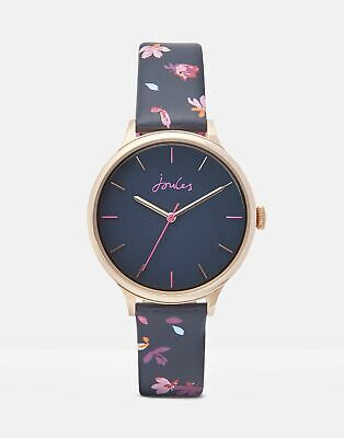 Joules Womens Rae Ladies Leather Strap Watch in NAVY BIRCHAM