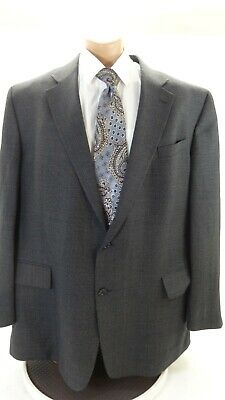Geoffrey Beene Men's Navy Tweed Wool Blend Suit Jacket Sport Coat Size 48L