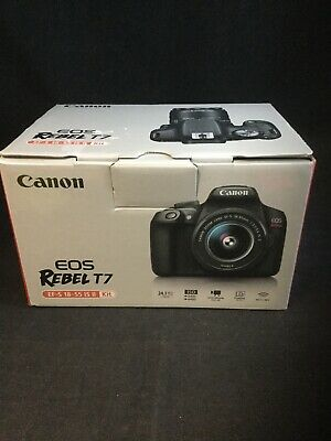 Canon EOS Rebel T7 24.1 MP Digital SLR Camera - Black (Kit with 18-55 Lens)#1948