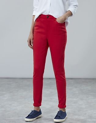 Joules Womens Monroe High Rise Stretch Skinny Jeans in NELSON RED
