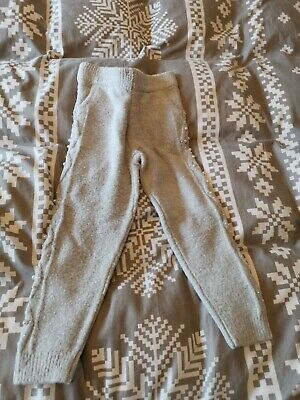 BNWT girls grey pearl embellished top AND jog pants by RIVER ISLAND size 5-6 yrs