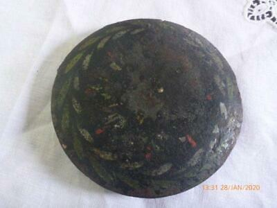 """Antique Painted Pendulum Bob For Grandfather Clock nearly 5"""""""