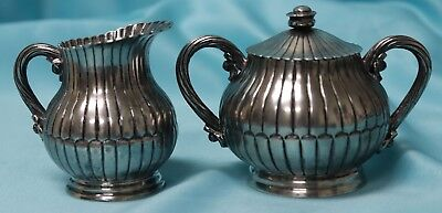 Antique Sanborns Mexico Sterling Silver Owl Hallmark Creamer & Sugar Bowl Set!