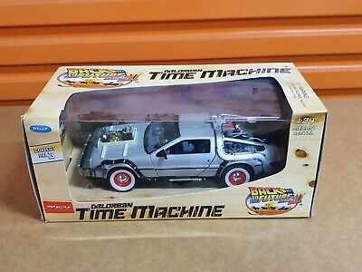 Back to the Future III ~ Welly DMC DeLorean Time Machine ~ 1:24 Diecast Metal
