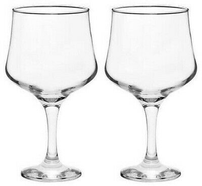 2x SALE! BARTENDERS LARGE 685ml GIN COCKTAIL red Wine Glasses CLEAR
