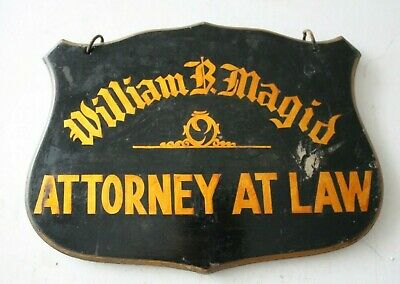 Vintage Double Sided Hanging Sign WOOD