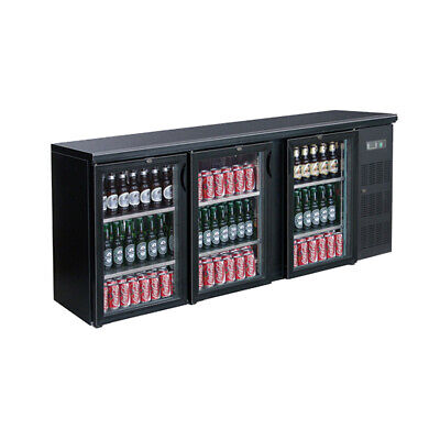 Three Door Drink Cooler for Restaurant Use