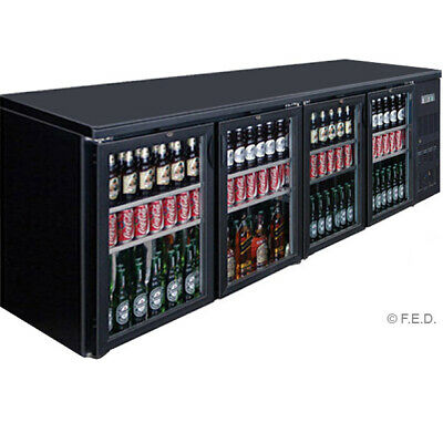 Four Door Drink Cooler for Restaurant Use