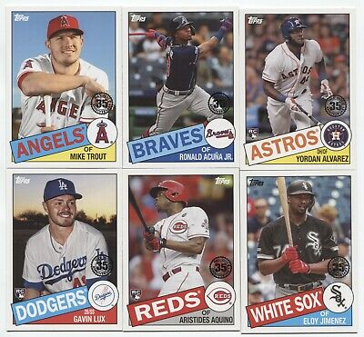 2020 Topps Series 1 1985 Topps 35th Anniversary Insert  (You Pick Your Player )