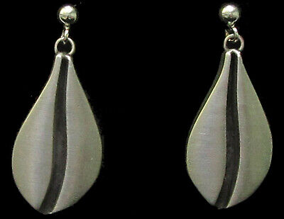 Scandinavian Swedish Norwegian Danish Finnish Pewter Drop Post Earrings Sweden