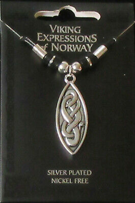 Scandinavian Swedish Norwegian Danish Finnish Silver Plated Viking Snake Pendant