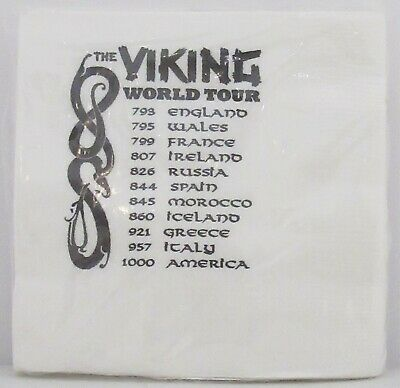 Scandinavian Swedish Norwegian Danish Finnish Viking World Tour Napkins 20 Pack