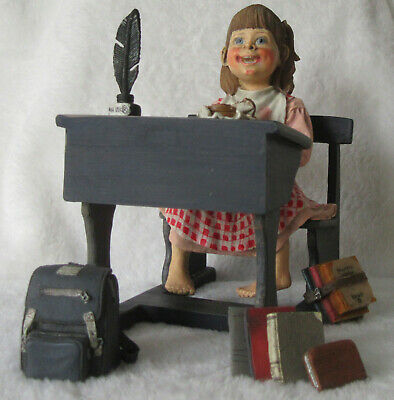 Scandinavian Swedish Norwegian Danish Finnish Blue School Desk Girl Sandwich New