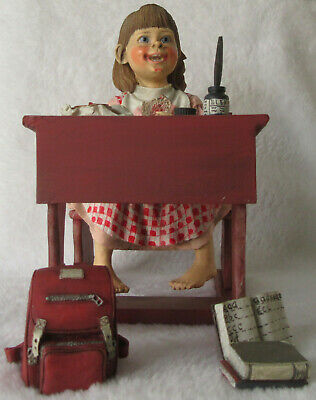 Scandinavian Swedish Norwegian Danish Finnish Red School Desk Girl Sandwich New