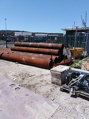 LARGE 500mm DIAMETER STEEL PIPES. DRAINAGE. CAISSONS. PILING.