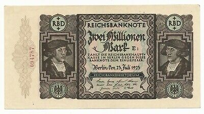 Germany 2000000 / 2 Million Mark 1923  P. 89a Inflation Money aUNC Note