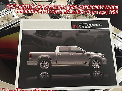 2007 SALEEN FORD F150 S331 and S331SC FACTORY UNUSED ORIGINAL ...