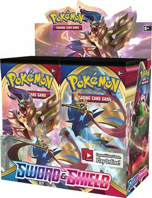 Pokemon SWORD AND SHIELD BASE BOOSTER BOX FACTORY SEALED (36 packs)