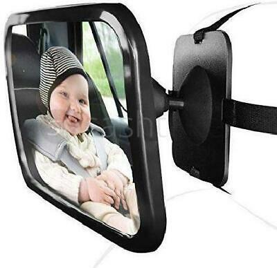 Large Universal Car Back Seat Shatterproof Safety Baby Child Wide View Mirror