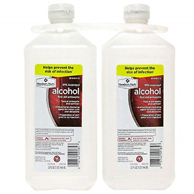 Isopropyl Alcohol 91Percent First Aid Topical Antiseptic Sanitizer 32Fl Oz 2Pack