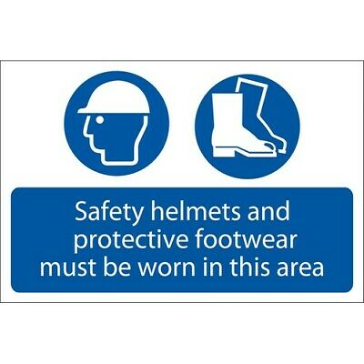 Draper 72870 Safety Helmets And Protective Footwear Must Be Worn Mandatory Sign