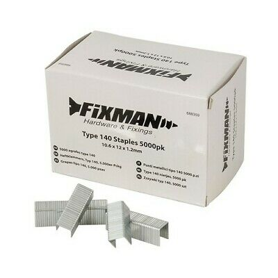 Fixman 688359 Type 140 Staples 10.6 x 12 x 1.2mm Pack of 5000