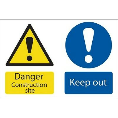 Draper 72915 'Danger Construction Site' Hazard Sign