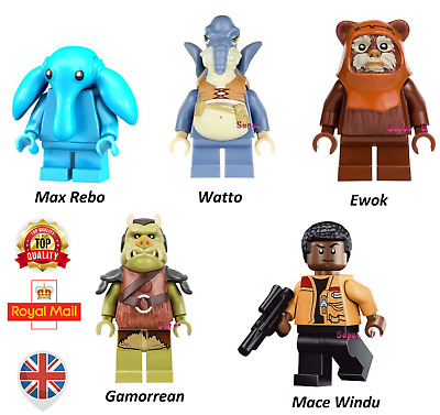 Star Wars Custom Mini Figure Max Rebo Mace Windu Gamorrean Watto Ewok +Lego Mace