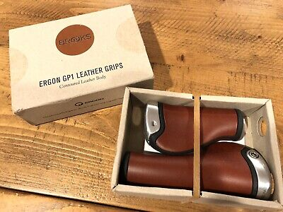 grips pair ergon gp1 130mm brown leather BR101M BROOKS fixed gear