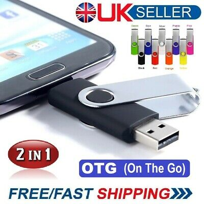 2 in1 USB 2.0 Memory Stick Flash Thumb Drive PC/Android/Samsung 32/64/128/256gb