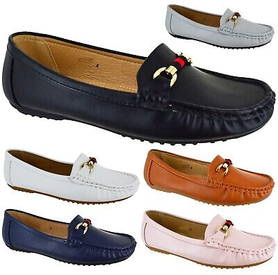Womens Winter Office Comfort Pumps Ladies Work Low Flat Heel Loafers Shoes Size