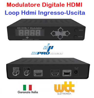 Modulatore Trasmettitore Digitale Terrestre Di Segnale Audio Video Hd Dvb-T