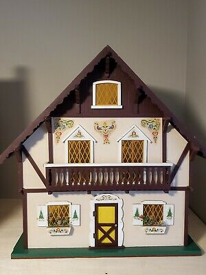 1970s Vintage Swiss Chalet Dollhouse 1:12 fixer upper