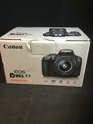 Canon EOS Rebel T7 24.1 MP Digital SLR Camera - Black (Kit with 18-55 Lens)#1726